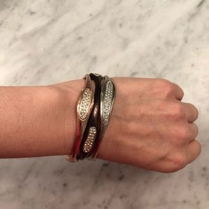 Jewelry - New 3 Color Mixed Metal Stacking Bangles